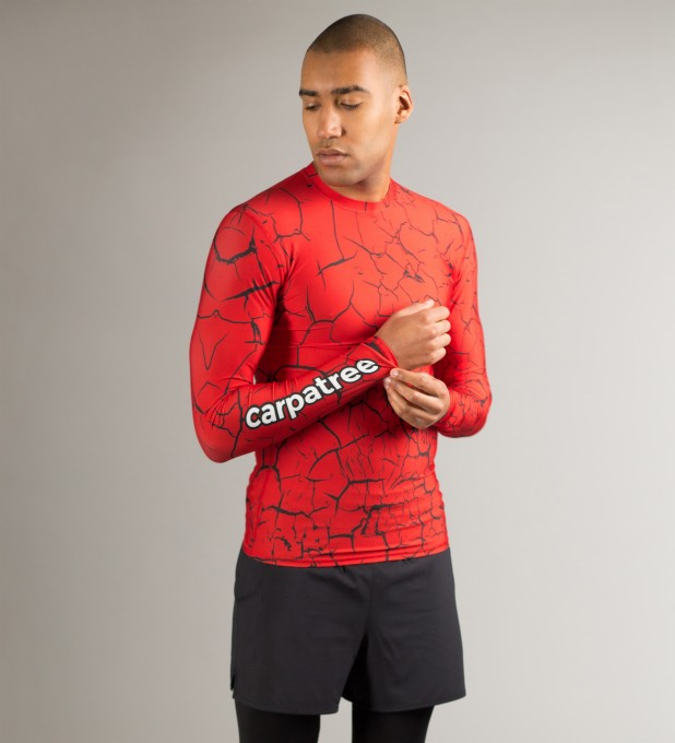 Red Cracks Longsleeve Rashguard Thumbnail 1