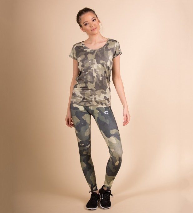 Green Camo O-Neck T-Shirt Thumbnail 2