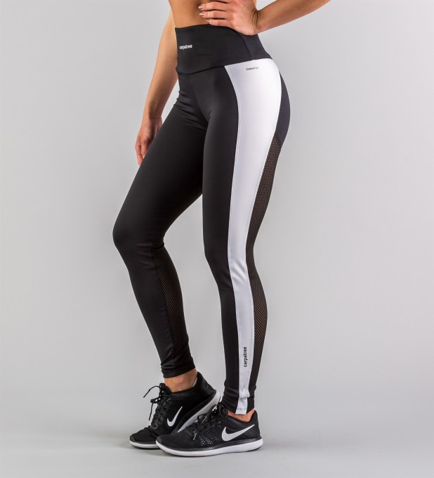 Hyperion Black & White Performesh Leggings Thumbnail 1