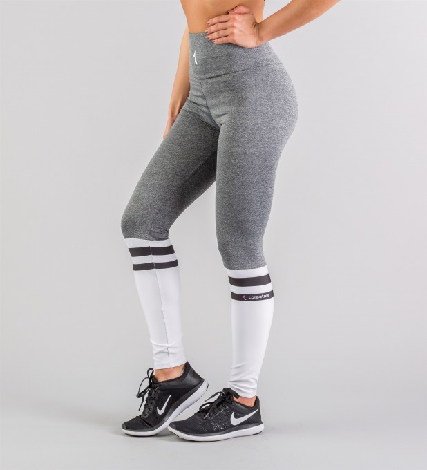 White Socks Highwaist Leggings Thumbnail 1