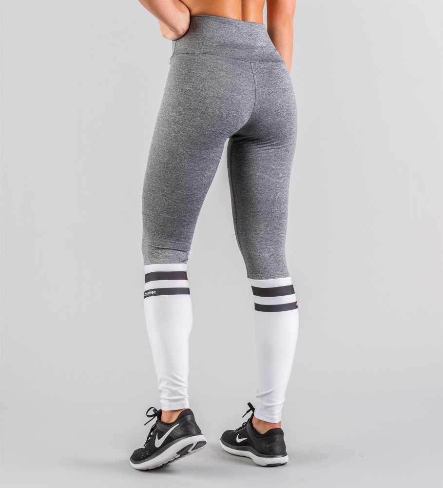 Carpatree, White Socks Highwaist Leggings Image $i
