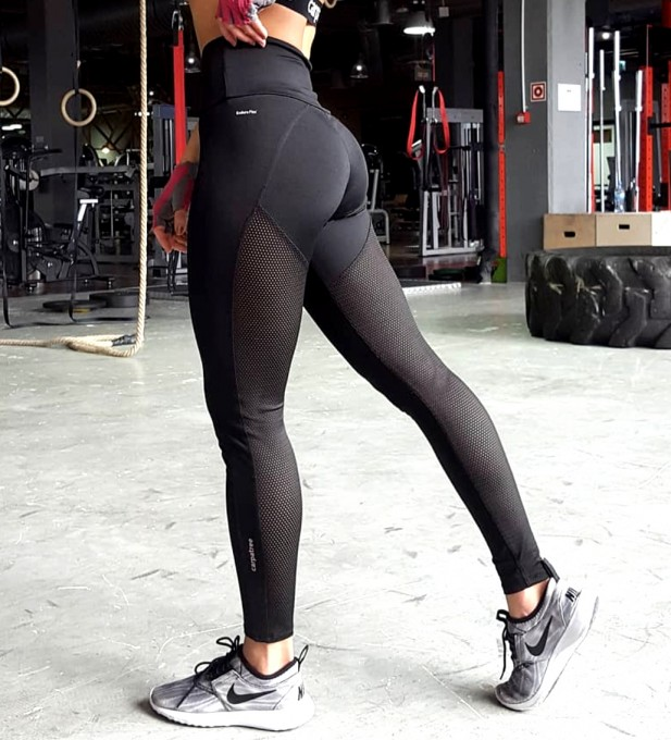 Hyperion Black Performesh Leggings Thumbnail 1