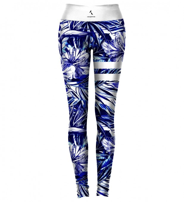 Blue Tropical Classic Leggings Thumbnail 1