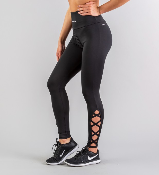 Full Black Crosses leggings Thumbnail 2