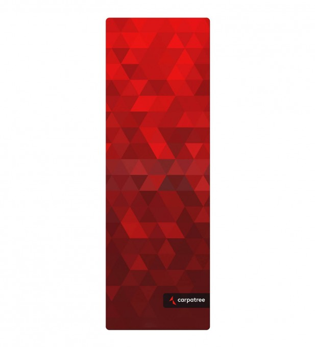 Red Triangles Yoga Mat Thumbnail 2