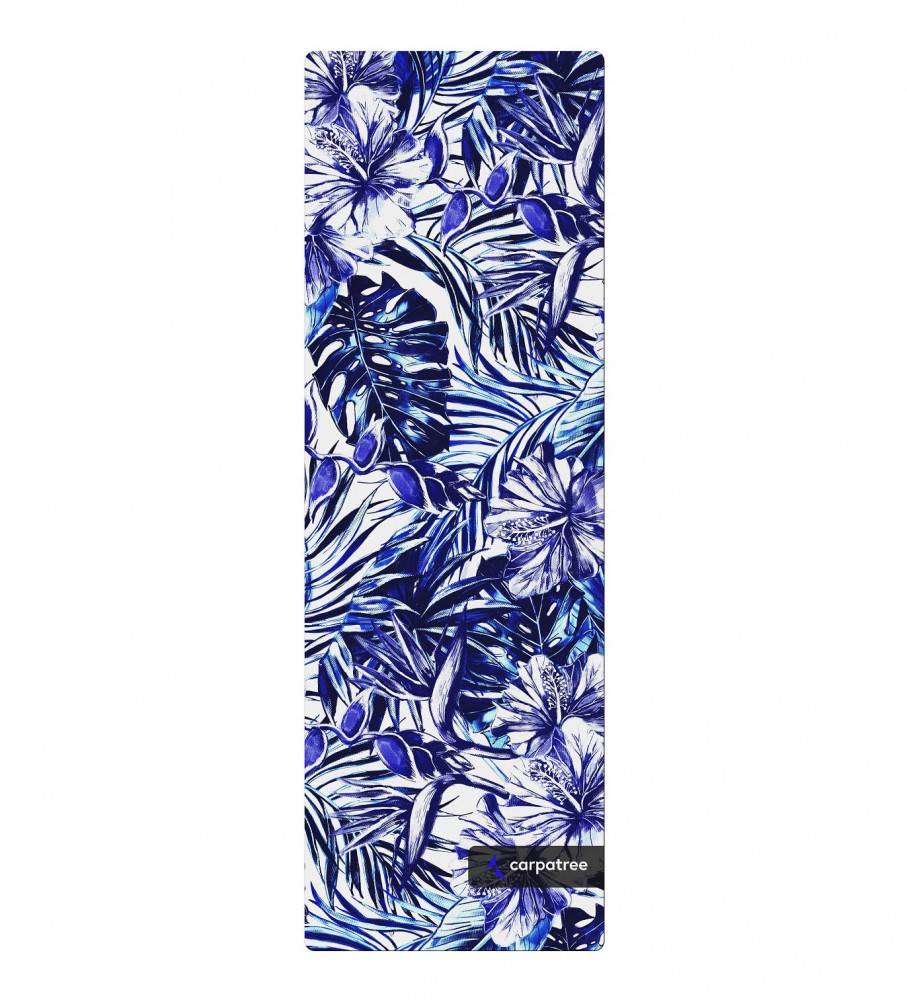 Carpatree, Blue Tropical Yoga Mat Image $i