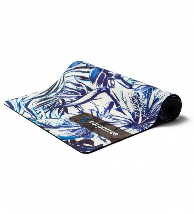 Blue Tropical Yoga Mat Thumbnail 1