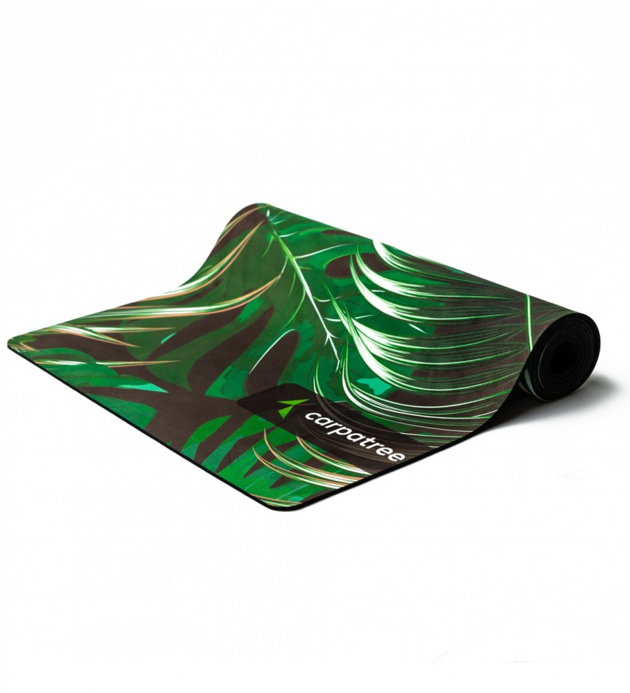 Carpatree, Green Tropical Yoga Mat Image $i