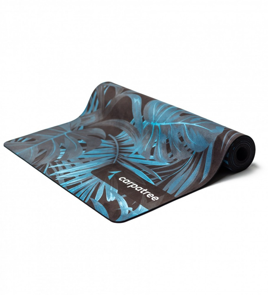Carpatree, Navy Tropical Yoga Mat Image $i