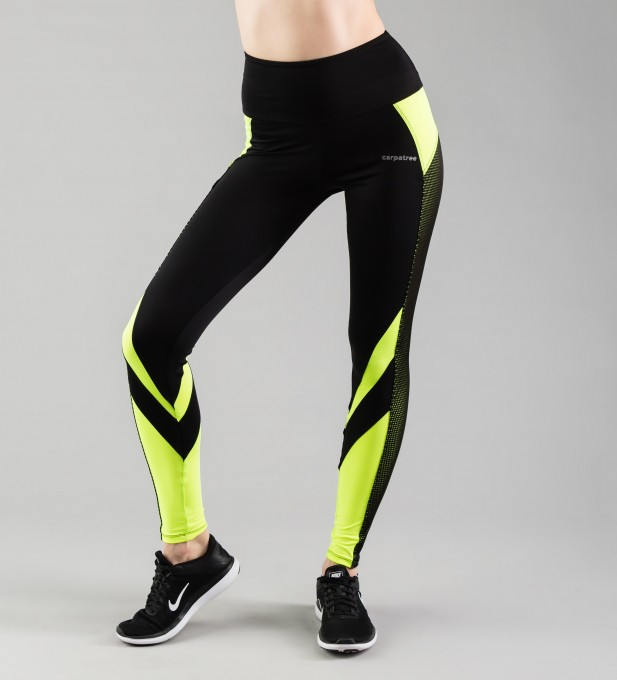 Fluo Green Mesh Pocket Leggings Thumbnail 1