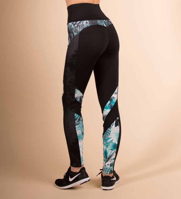 Fantasy Floral Mesh Pocket Leggings Thumbnail 2