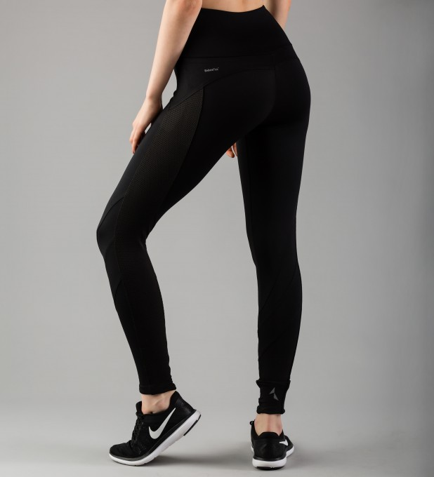 Black Mesh Pocket Leggings Thumbnail 2