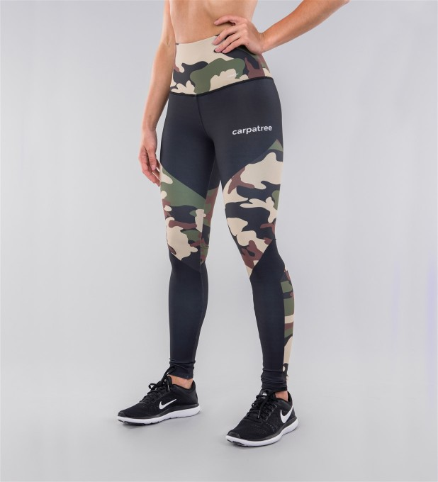 Army Camo & Black Highwaist Leggings Thumbnail 1