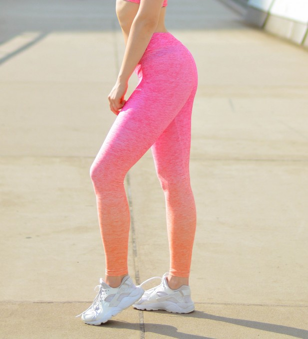 Pink Orange Ombre leggings Thumbnail 1