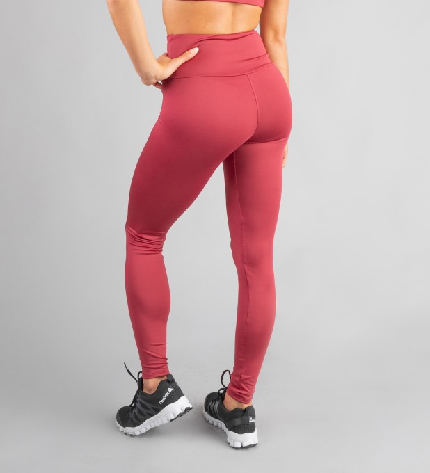 Burgundy Classic Highwaist Leggings Thumbnail 2