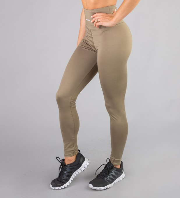 Khaki Classic Highwaist Leggings Thumbnail 1