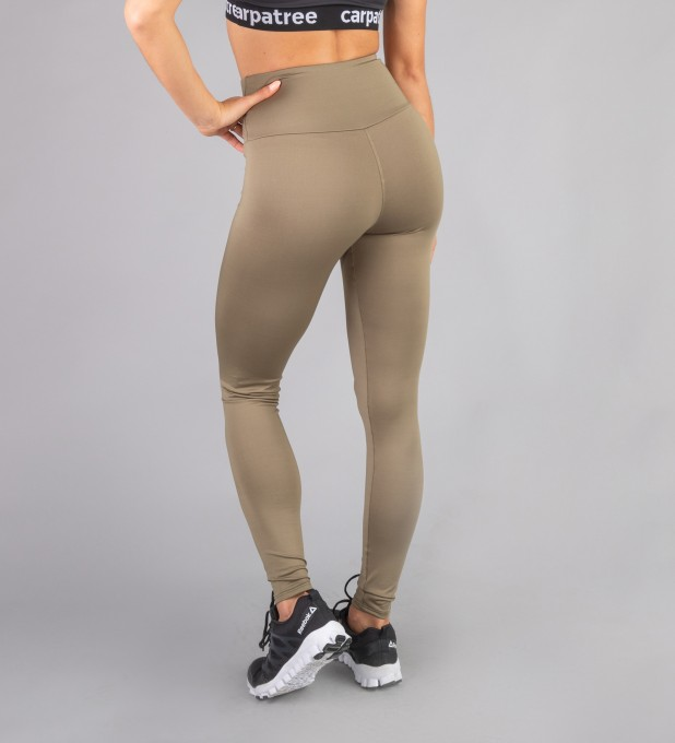 Khaki Classic Highwaist Leggings Thumbnail 2