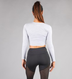 Carpatree, Gaia Grey Longsleeve Top Thumbnail $i