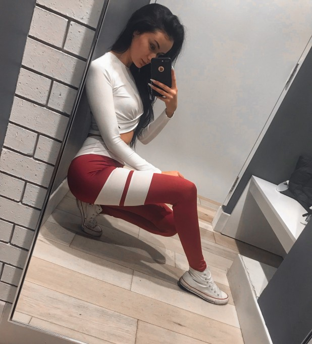 Burgundy Loop Leggings Thumbnail 2