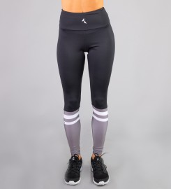 Carpatree, Black & Grey Socks Highwaist Leggings Thumbnail $i