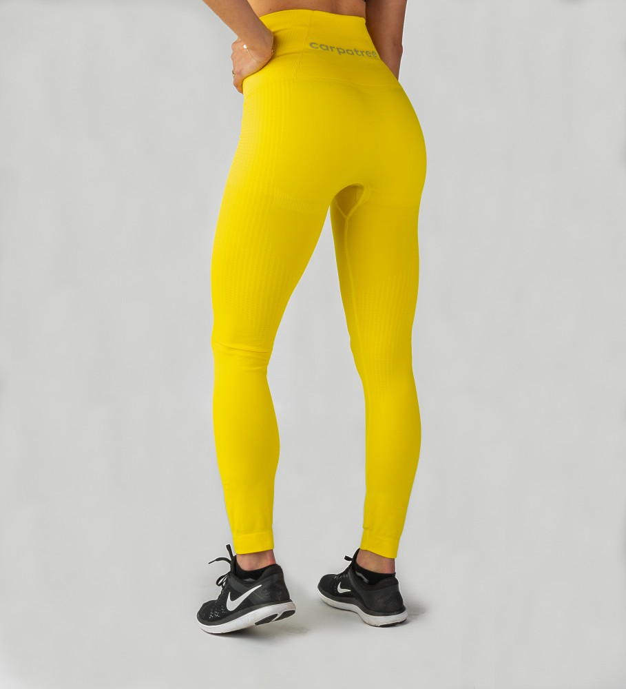 Carpatree, Yellow Model One seamless Leggings Image $i