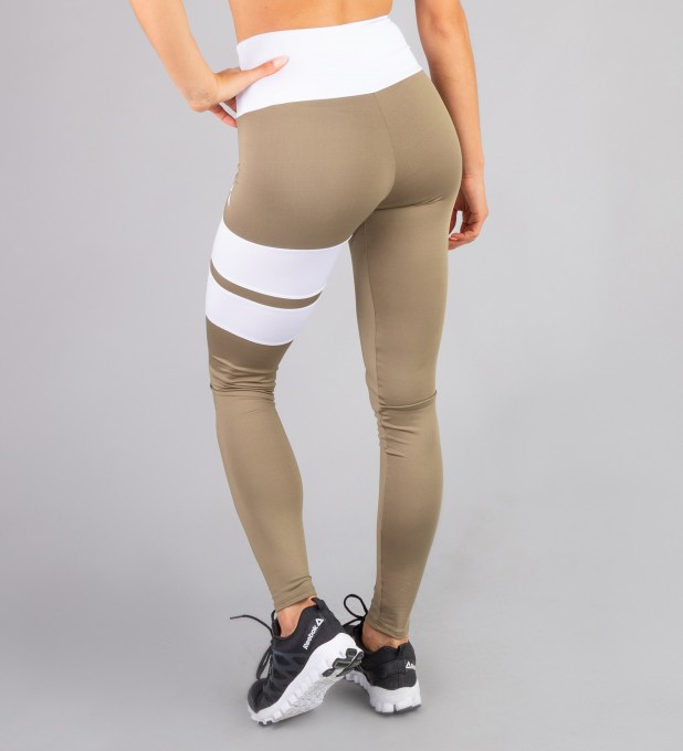 Khaki Loop leggings Thumbnail 2
