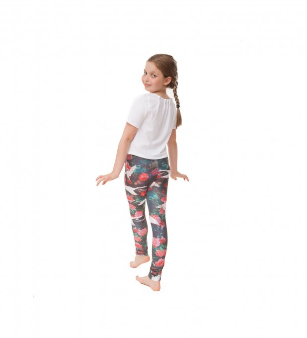 Swans leggings for kids Thumbnail 1