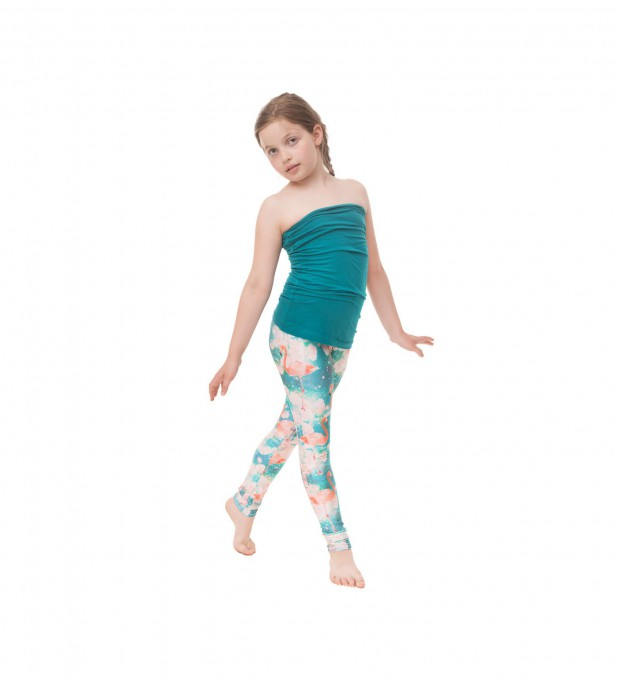 Flamingos leggings for kids Thumbnail 1