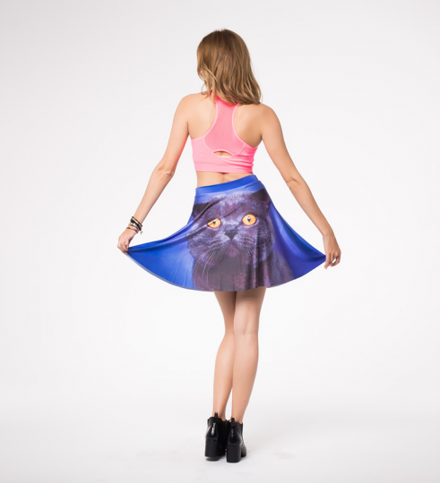 british cat skater skirt Miniatura 2