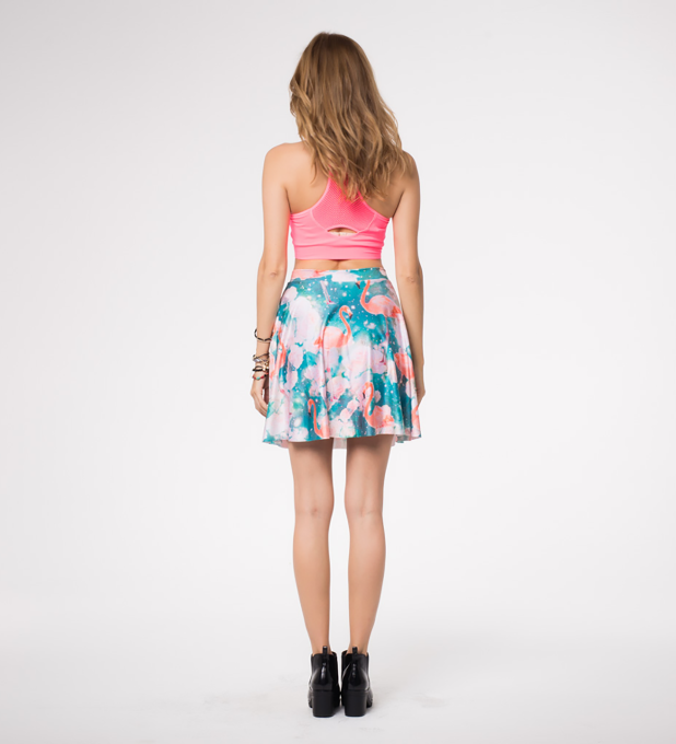 Flamingos skater skirt Miniature 2