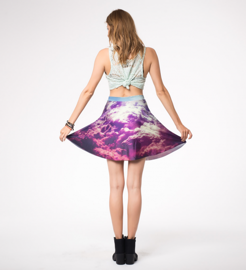 clouds skater skirt Miniatura 2