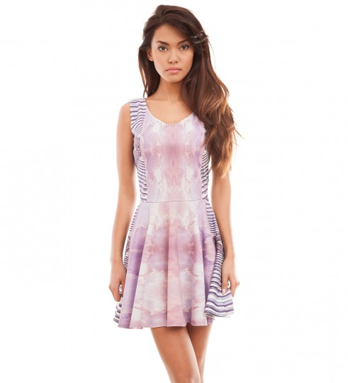 Clouds skater dress Thumbnail 1