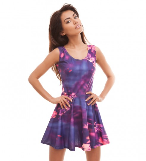 Pink Flowers skater dress Thumbnail 1