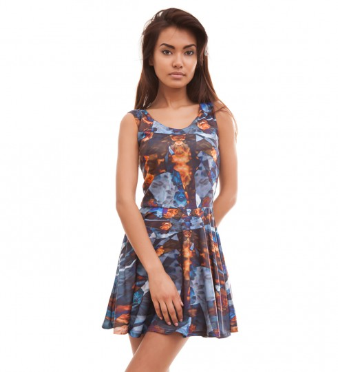 Indygo Flowers skater dress Thumbnail 1