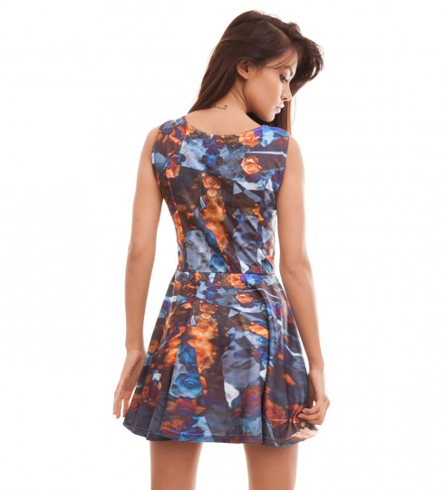 Indygo Flowers skater dress Thumbnail 2