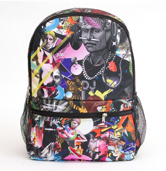Popping collage backpack Thumbnail 1