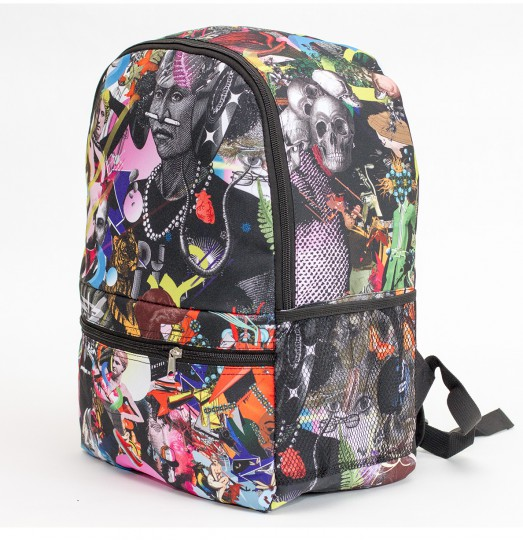 Popping collage backpack Thumbnail 2
