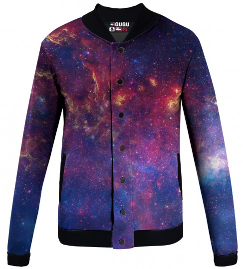 purple nebula  baseball jacket Miniature 1