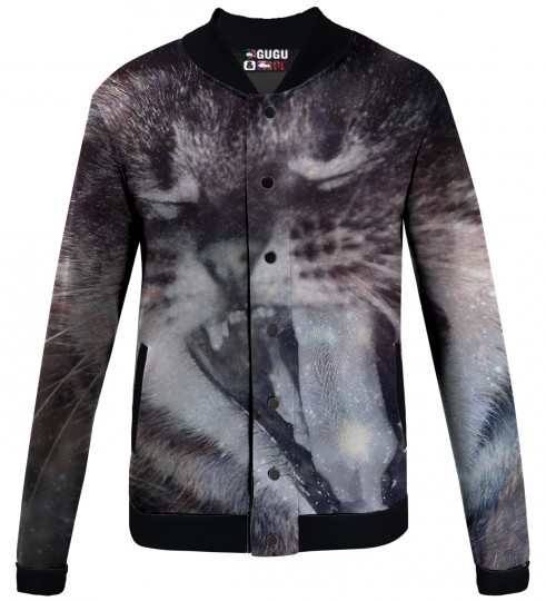 galaxy cat  baseball jacket Miniature 1