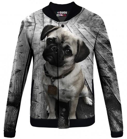 pug baseball jacket Miniature 1