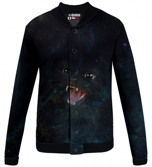 wild galaxy cat  baseball jacket Miniature 1