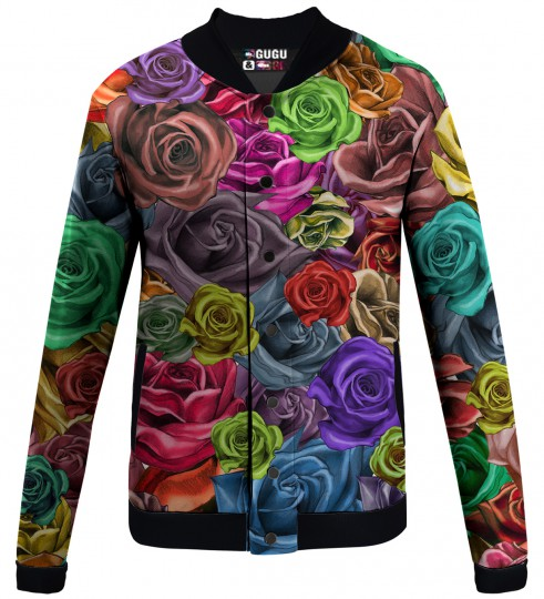 colorfull roses baseball jacket Miniature 1