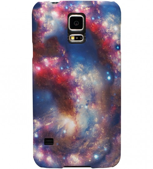 Red Blue Nebula phone case Miniature 1