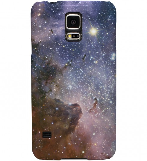 Violet Nebula phone case Miniature 1