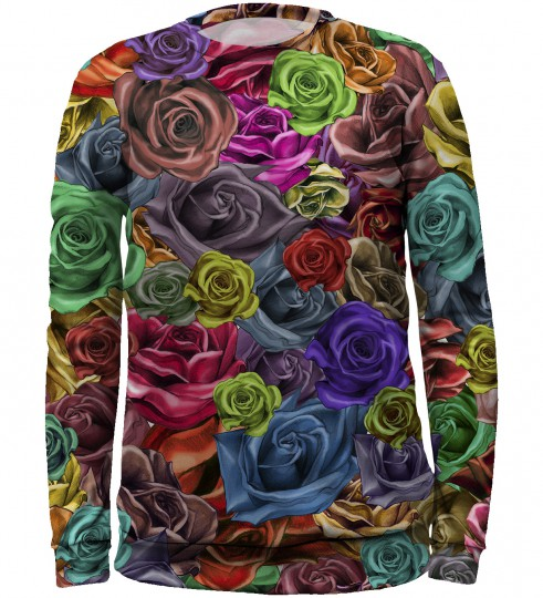 Colourful roses sweater for kids Miniature 1