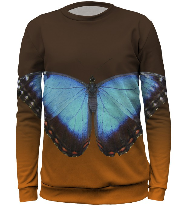 Blue butterfly sweater for kids Miniatura 1