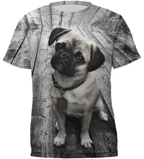 Pug t-shirt for kids Miniature 2