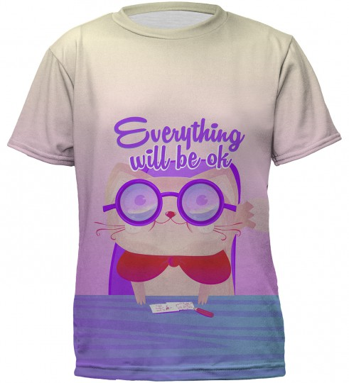 Everything will be ok t-shirt for kids Miniatura 2