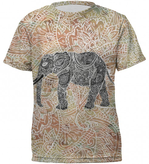 Indian elephant t-shirt for kids Miniature 2