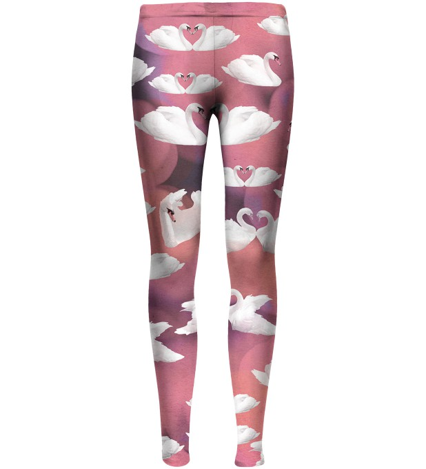 Pink swans leggings for kids аватар 1